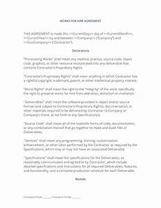 works for hire agreement With work made for hire agreement template