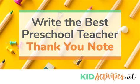 write a thank you note to preschool plus thank 856 | write the best preschool teacher thank you note 2