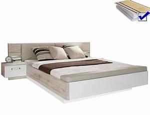 Doppelbett 180x200 Weiß : doppelbett rubio 1 sandeiche wei 180x200 bett 2x nako rost matratze wohnbereiche schlafzimmer ~ Frokenaadalensverden.com Haus und Dekorationen