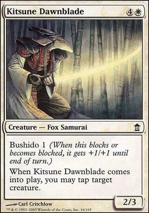 mtg samurai deck modern kitsune dawnblade sok mtg card