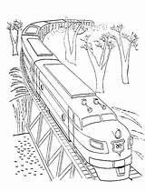Coloring Train Pages Bridge Passing Colouring Transportation Adult Books Ikidsdrawing Kidsdrawing 6th Finger sketch template