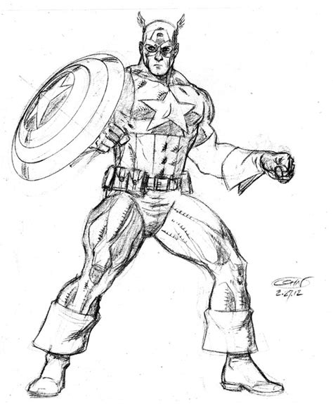 captain america pencil  comic art community gallery