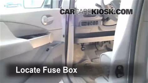 interior fuse box location   nissan quest