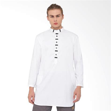 jual zayidan ihsan baju muslim gamis pria putih harga kualitas terjamin blibli