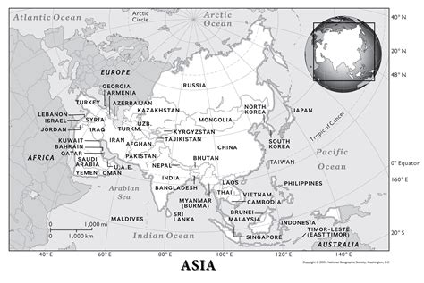 asia physical geography national geographic society