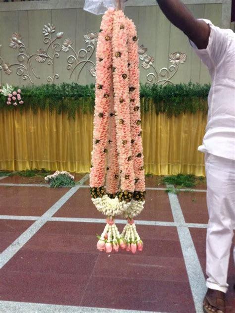 peach colour garlands indian wedding garlands floral