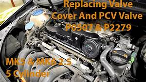 Replacing A Valve Cover On Vw 2 5l 5 Cylinder Engine  Pcv