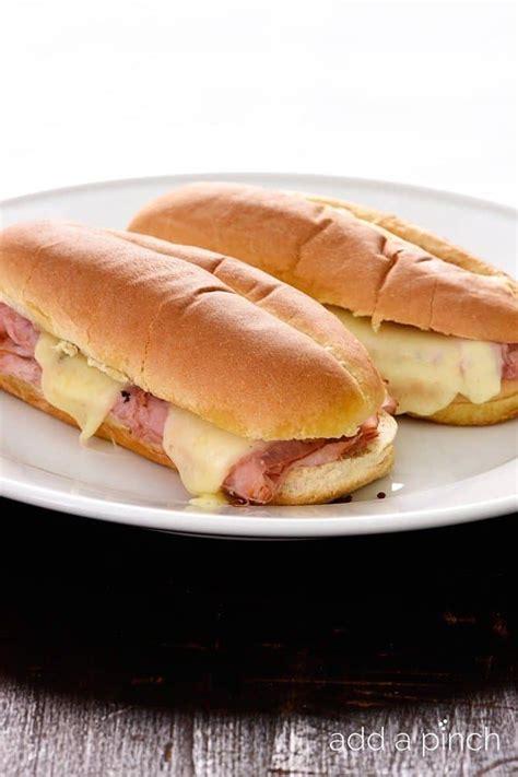 hot ham  cheese sandwiches recipe add  pinch