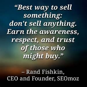 Friday Quote: Rand Fishkin quote about sales and marketing ...