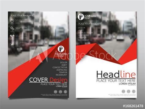 red flyer cover business brochure vector design leaflet