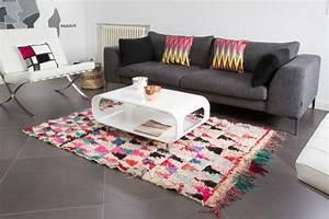 Tapis Forme Geometrique : cr ez votre ambiance chaleureuse avec un tapis salon ethno ~ Teatrodelosmanantiales.com Idées de Décoration
