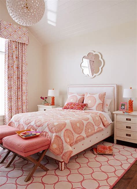 pink and orange bedrooms pink and orange girl s room contemporary girl s room andrew howard interior design