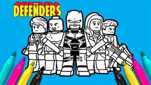 Marvel Defenders Coloring Page