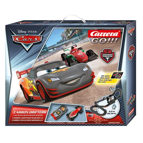 go autos go disney cars carbon drifters 1 43 scale slot