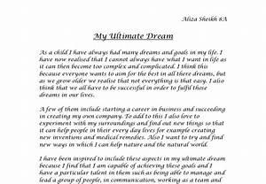 Essay on a horrible dream
