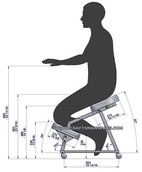 Ergonomic Office Kneeling Chair For Computer Comfort by Kneeling Chair Plans