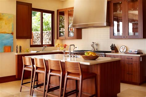 eat at kitchen island eat in kitchen with warm wood cabinets island hgtv 7014