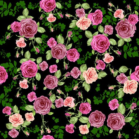rose pattern  vector    vector