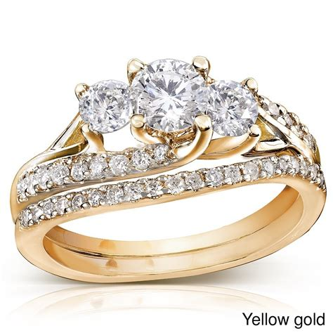 certified 1 carat trilogy wedding ring