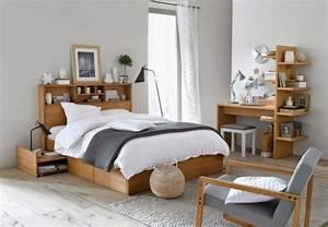 Une chambre style scandinave joli place for Chambre à coucher adulte avec housse couette nordique