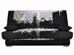 canape clic clac tissu bultex imprime metropolis tulsa With tapis chambre enfant avec canapé clic clac couchage 160x200