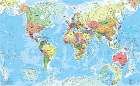 Grande Carte Du Monde by Carte Du Monde Grand Format Voyages Cartes