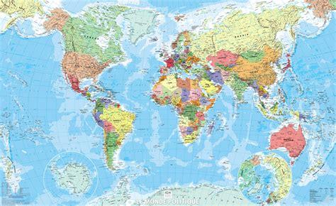 Carte Politique Du Monde à Imprimer by Poster Plastifi 233 Monde Politique