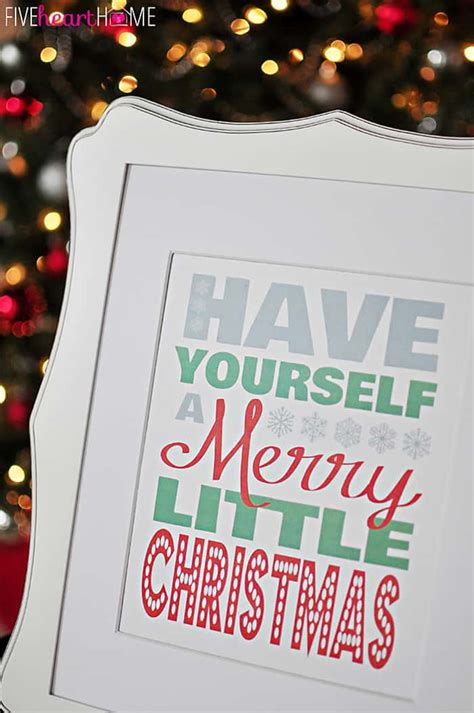 Free Christmas Printable  Have Yourself A Merry Little Christmas