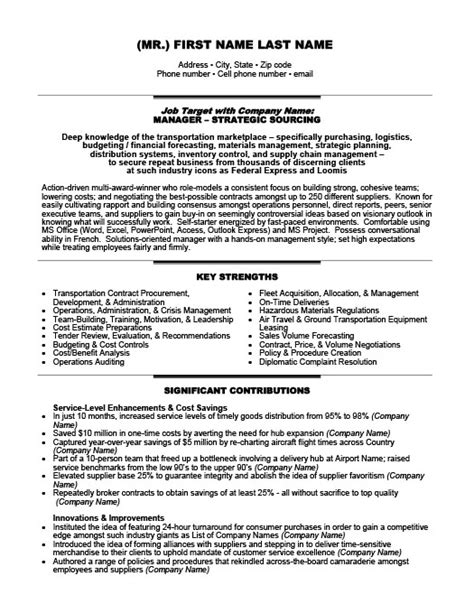Exle Resume For Consultant by Independent Transportation Consultant Resume Template