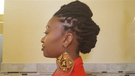 requested loc style tutorial short  medium locs youtube