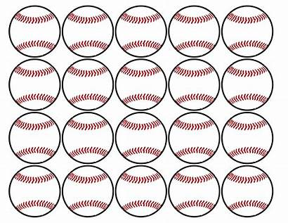 Baseball Cupcake Printable Toppers Birthday Party Decorations