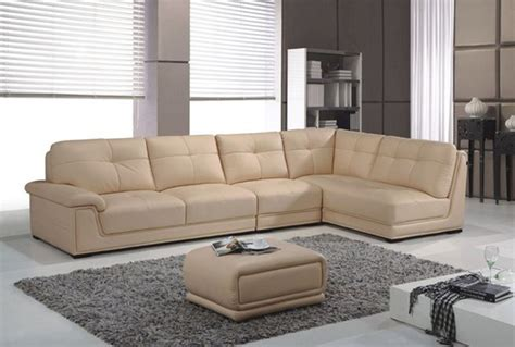 Contemporary Leather Corner Sofas by Contemporary Style Tufted Leather Corner Sectional Sofa