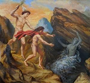 Orpheus und Eurydike mit Hermes | Mythologie | Pinterest | Oil