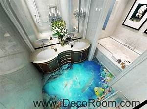 shark under the sea coral 00018 floor decals 3d wallpaper With kitchen colors with white cabinets with fish ruler sticker