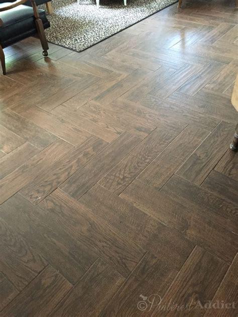 herringbone wood tile wood look tile floors pinterest addict
