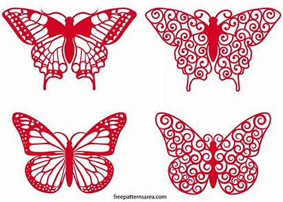 Butterfly Vector Clipart Swirl Svg Silhouette Freepatternsarea