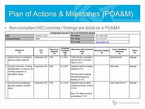information systems risk management ppt video online With plan of action and milestones template