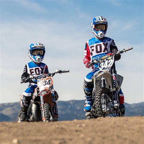 infant motocross new fox racing 2017 kids mx le 180 fiend blue white red