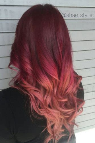 37 Best Red Ombre Hair Color Ideas For Long Hair