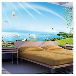 Regenbogen Tapete Kinderzimmer : sch nen schwan schwimmen wandbild tapete schlafzimmer sofa hintergrundbild regenbogen himmel ~ Sanjose-hotels-ca.com Haus und Dekorationen