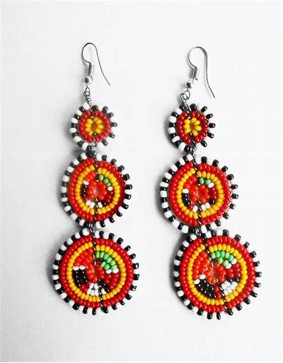 African Earrings Maasai Jewelry Tribal Beaded Crafts