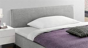 Bett Mit Gepolstertem Kopfteil : preiswertes graues polsterbett in 140x200 cm gravelines ~ Markanthonyermac.com Haus und Dekorationen