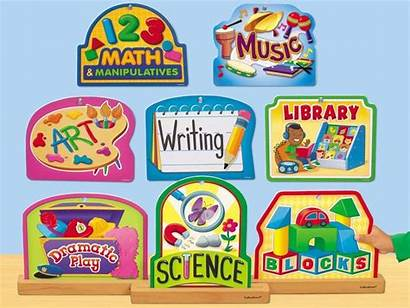 Learning Preschool Centers Center Clipart Signs Lakeshore