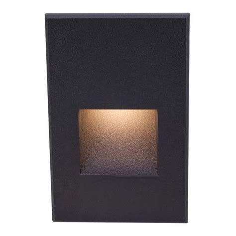 recessed led outdoor step lights wac lighting black led recessed step light wl led200 c