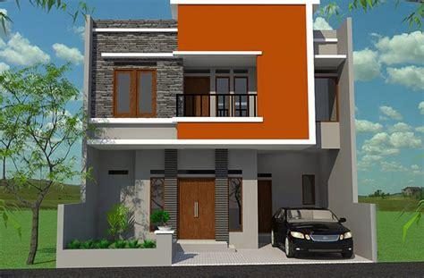 model rumah minimalis bertingkat  modern desain rumah