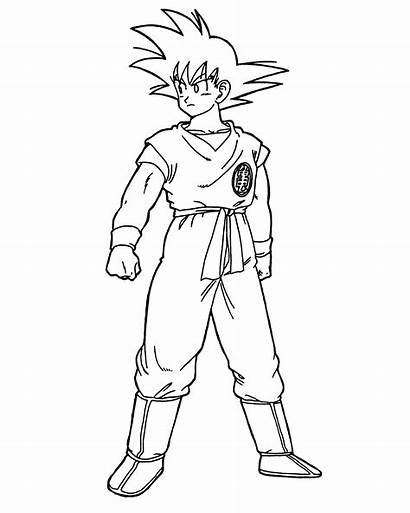 Goku Coloring Dragon Ball Pages Drawing Dbz