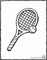 Tennis Tennisracket Ball Tenis Kiddicolour Racquet Raquette Tennisbal Drawing Pelota Raqueta Kleurplaat Balle Coloriage Kiddicoloriage Colouring Kleurprent Dibujo Colorear Tekening sketch template