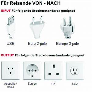 Steckdosenadapter Für Frankreich : world adapter pro usb domrep deutschland welt ~ Kayakingforconservation.com Haus und Dekorationen