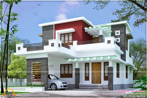 1959 Square Feet Contemporary House Exterior  Kerala Home