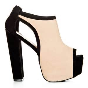 peep toe high heeled concealed platform cut out shoe